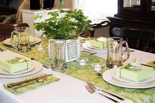 Irish St. Patricks day dinnerware | ... St. Patrick's Day Table Décor | Shamrock Centerpiece | Irish/Green