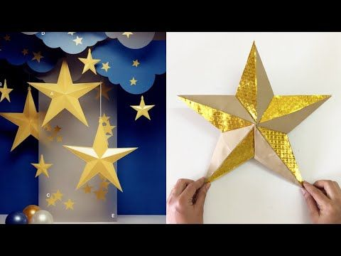 How To Make Paper Star For Party Decoration Youtube Paper Stars Diy Christmas Star Star Paper Craft