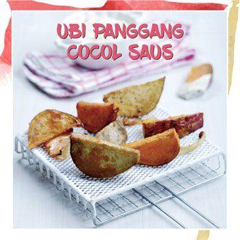 ubi panggang cocol saus