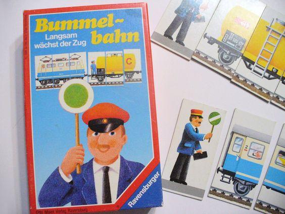 """Vintage Brettspiele - """"Bummelbahn"""" Vintage Spiel 80er Kind Eisenbahn - ein…"""