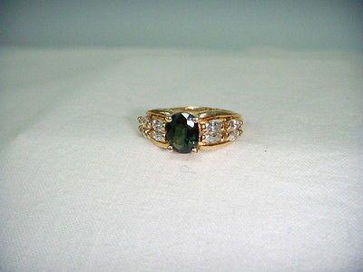 Gorgeous Estate 14K Yellow Gold Lemon Quartz Turquoise Ring