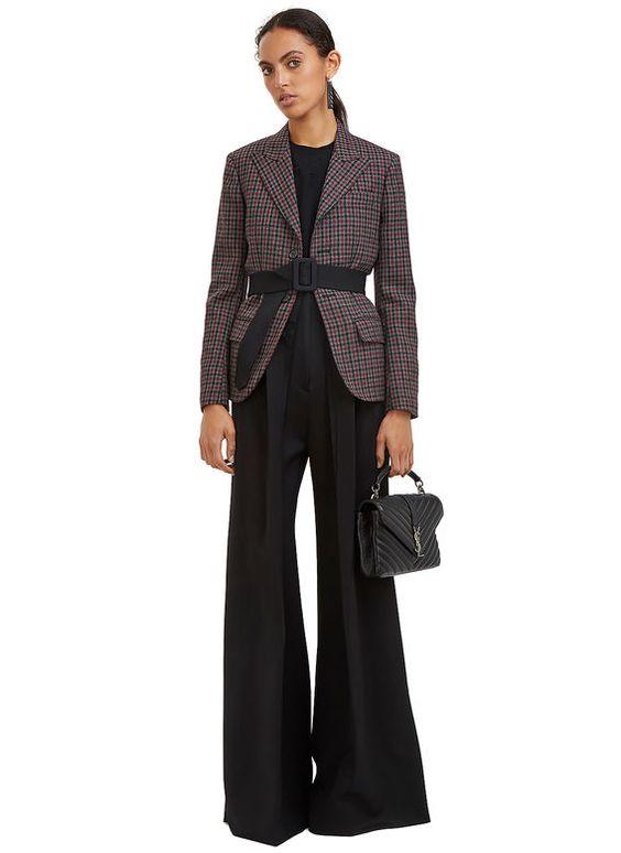 Yang Li Tartan Single-Breasted Blazer Jacket | LN-CC