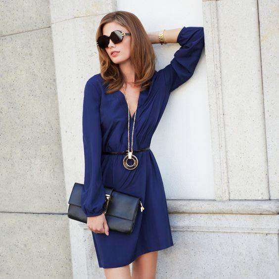 Carmiena >> Love this simple navy dress! $39.95