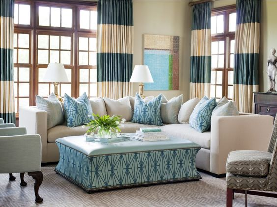 Living room color palettes you 39 ve never tried stylish for Curtain color ideas living room