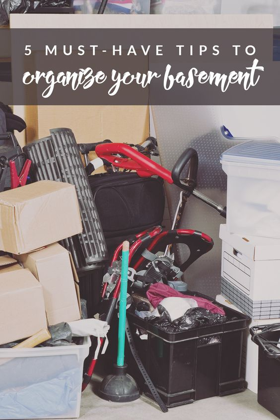 5 must have tips to organize your basement nature storage and basements. Black Bedroom Furniture Sets. Home Design Ideas