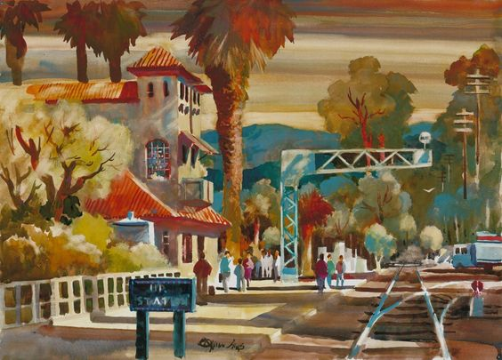 Don ONeill Watercolor - Union Pacific Station, $200.00 (http://www.dononeill.com/union-pacific-station/)