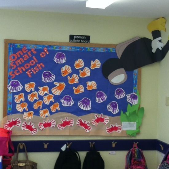 Crabs the hand and fish bulletin boards on pinterest for Fish bulletin board