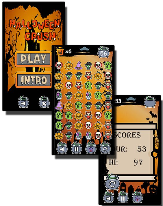 Halloween Crush - HTML5 Mobile Game - 1