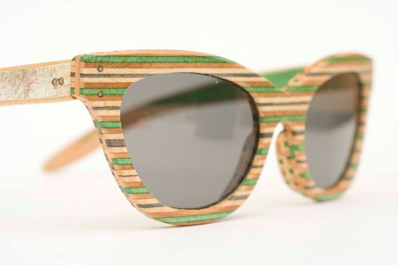 glasses made out of skateboard decks - SK8Shades