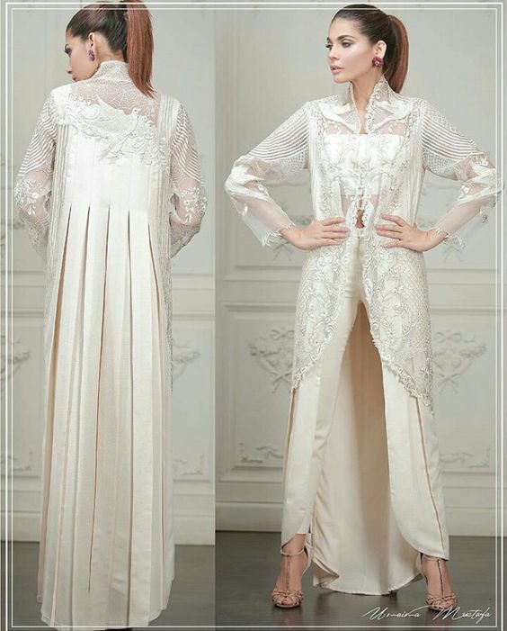 Stitching Styles Of Pakistani Dresses White Jacket Style Shirt