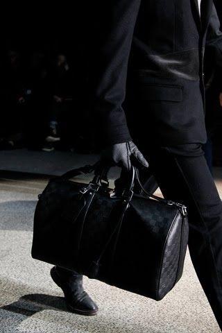 Louis Vuitton Men's Damier Collection Bag in Black