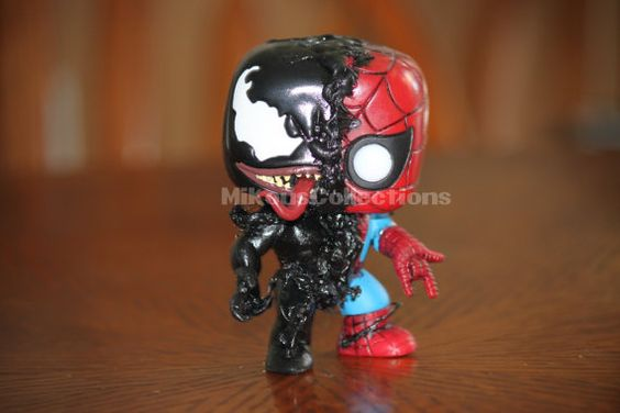 Marvel Disney Venom Spiderman Custom Funko by MikousCollections: