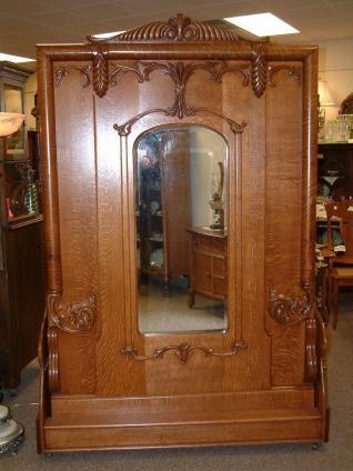 Fancy Antique Beds Fancy Oak Upright Folding Bed Murphy