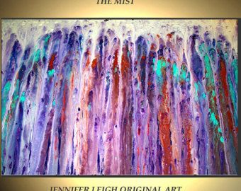 RESERVED Original Large Abstract Painting Modern von SohoGallery