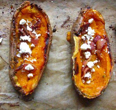 Sweet potato skins, Potato skins and Potatoes on Pinterest