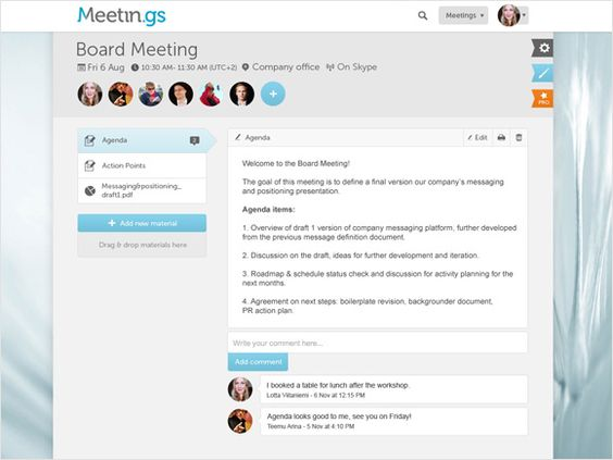 Do helps you run productive meetings Do work you love Places - board meeting agenda
