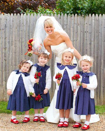 with preppy flower girls