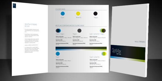 Manual de identidad corporativa de OptiMax ópticas. Análisis cromático corporativo.