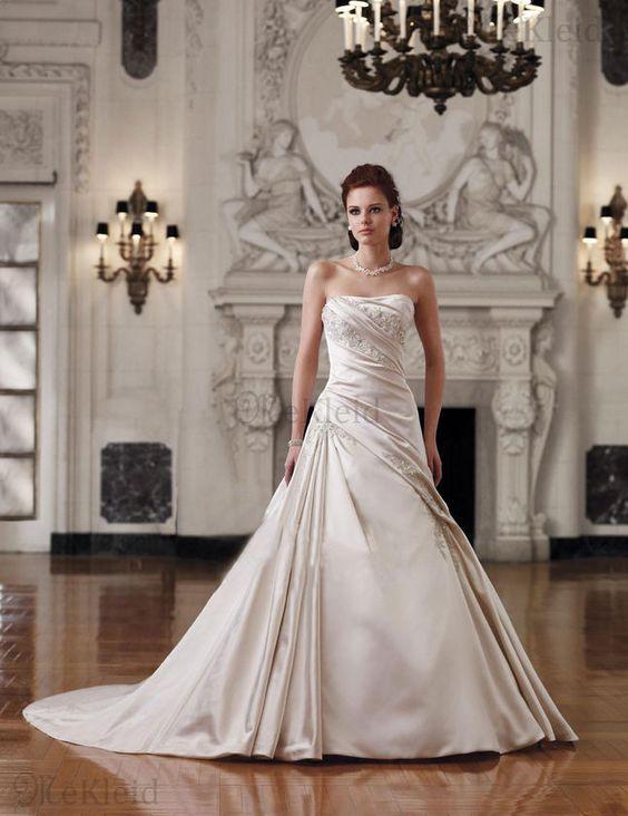 Fischschwanz Sanduhr Applikation Ganzfigur Besonderes Ballkleid Brautkleid
