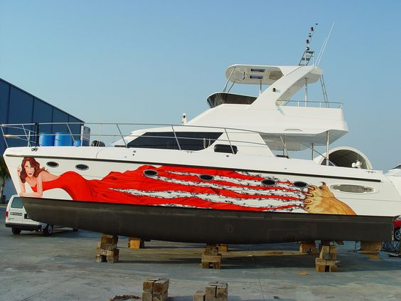 Custom Designed Boat Wrap by Paradise Graphix boat wraps - yacht repair sample resume