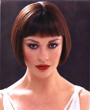 Message Bob Haircut With Bangs Short Hair Styles Catherine Zeta Jones