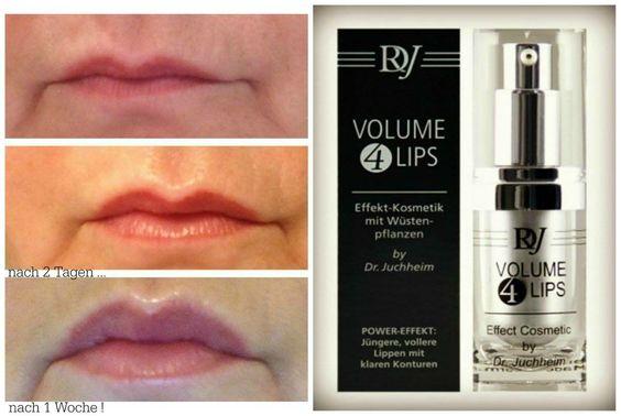 Wirkkonzept         Volume 4 Lips kann schönere, vollere und sinnliche Lippen bewirken.   Mindert die Tiefe von Lippenfältchen und glättet raue Partien.   Festigt dieLippenkonturen.   Bildet Feuchtigkeitsdepots in den Lippen.