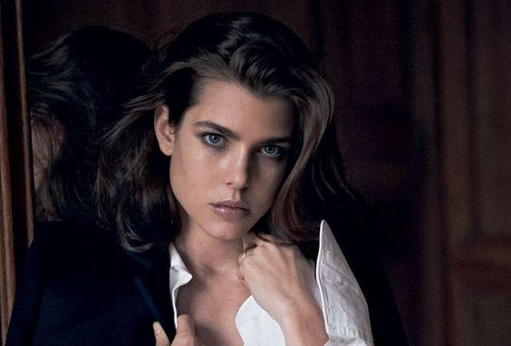 Charlotte Casiraghi, shot by Annie Leibovitz.