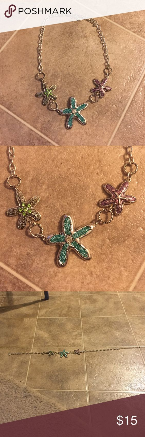 Sterling silver, starfish necklace This whimsical piece is perfect for a summer wardrobe or a touch of humor year round! Just Jewelry  Jewelry Necklaces