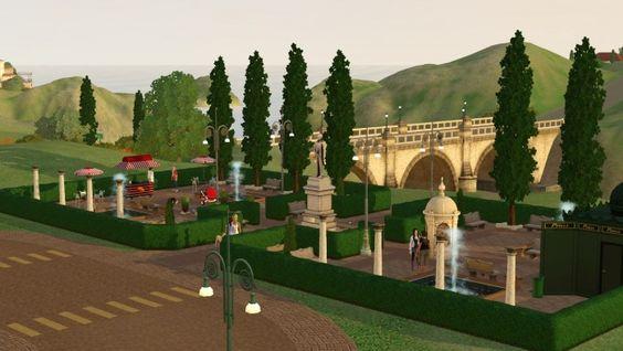 "Park ""Solar Walk"" (shop for nerds) by Elena - Sims 3 Downloads CC Caboodle"