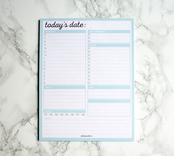 To-Do List Daily Planner Notepad, 8.5x11