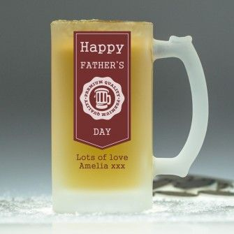 Personalised Freezing Pint Tankard - Father's Day