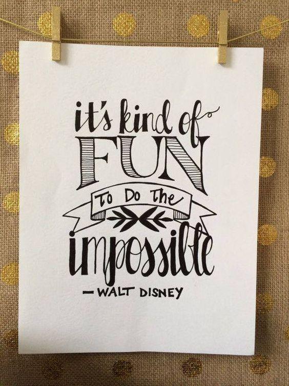 It's kind of fun to do the impossible. #daretodream: