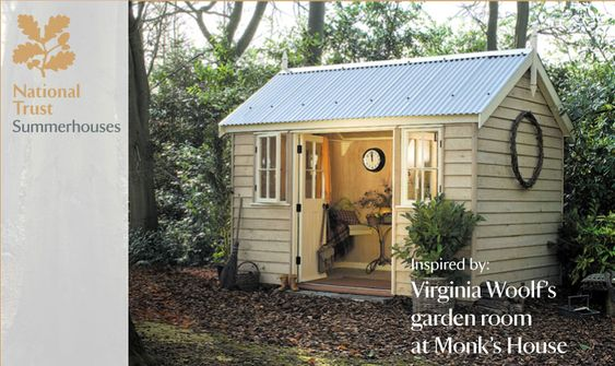 A small garden reading room for your backyard, inspired by Virginia Woolf