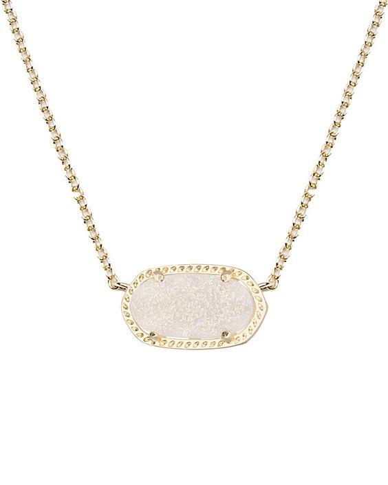 Elisa Pendant in Iridescent Drusy - Kendra Scott Jewelry