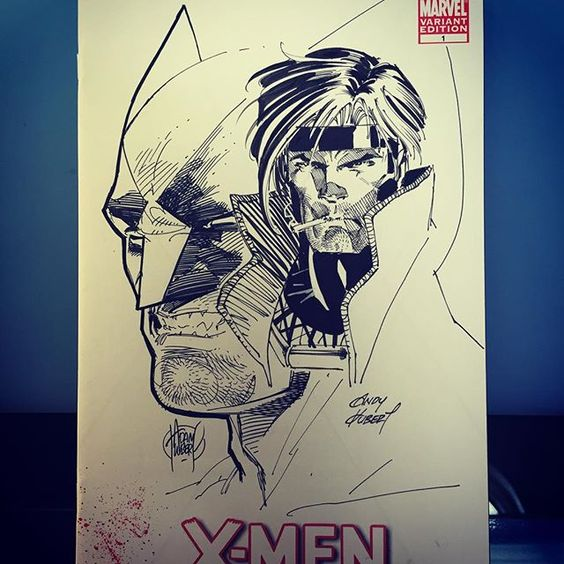 Another remark... Andy likes to bogart the space ;) #xmen #Wolverine #gambit #marvelcomics @marvel by adamkubert