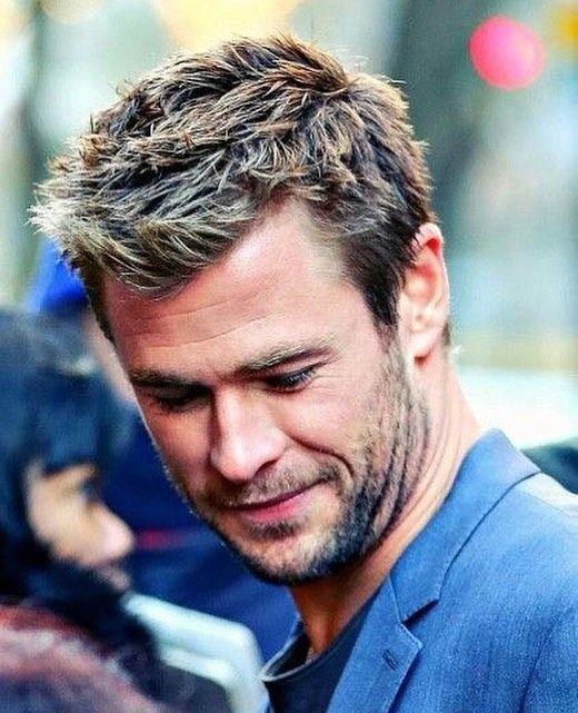 Image May Contain 1 Person Beard And Closeup Chris Hemsworth