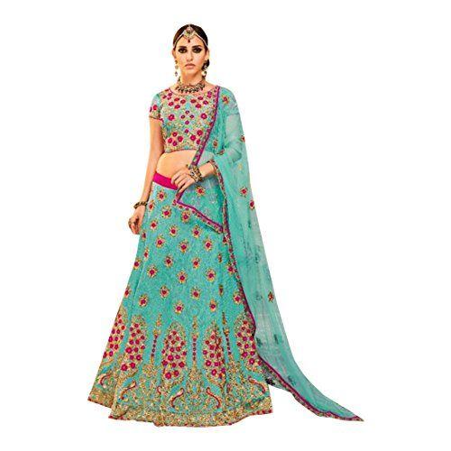 Saree Indiano Sari Designer Seta Pakistano indossare Etnica camicetta Matrimonio donnacce