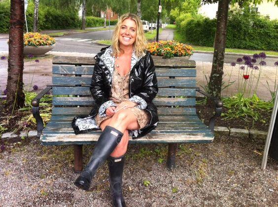 ösregnofsweden black raincoat hunter boots