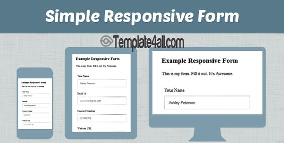 Awesome Free Responsive Html Css Contact Forms Contact Html