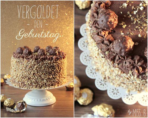 Miss Blueberrymuffin's kitchen: Goldene Zeiten: Rocher-Torte