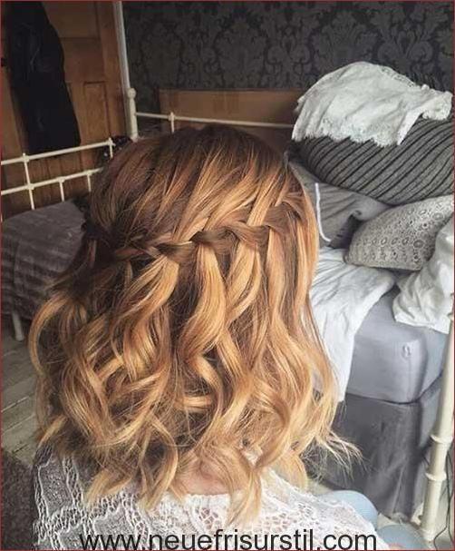 Wasserfall Flechten Kurze Haare Frisuren In 2019 Pinterest Frisuren Frisur Hochzeit Zopf Kurze Haare Kurze Haare Flechten