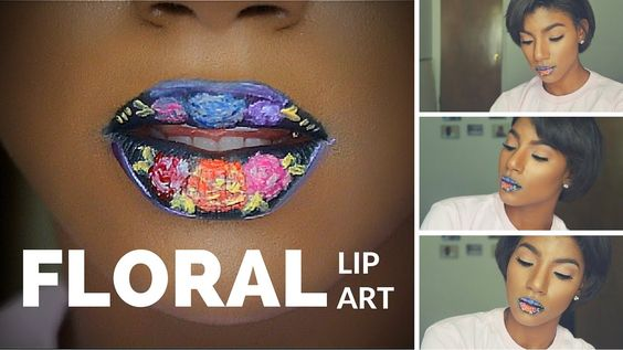 Floral Lip Art | Darby Smith