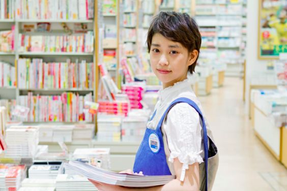 本屋の店員の森川葵