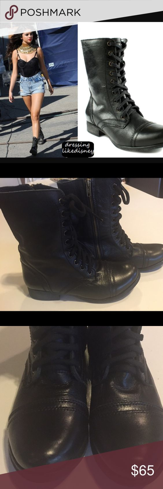 """New Steve Madden """"Troopa"""" Boots Black Size 5.5 Steve Madden """"Troopa"""" Boots Black Size 5.5.  New and never worn! So cute! Steve Madden Shoes Ankle Boots & Booties"""