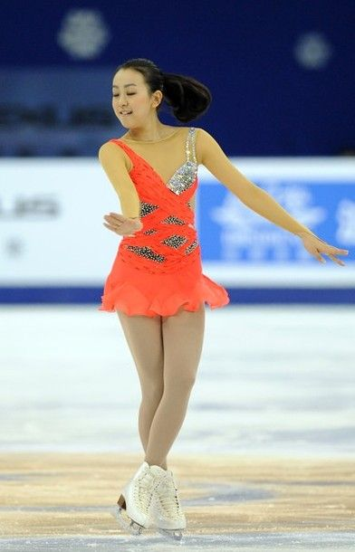 Mao Asada of Japan performs her routine in the ladies short program during The Cup of China, the third event on the ISU Grand Prix figure skating tour, in Shanghai on November 2, 2012.
