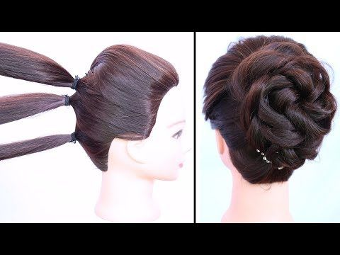 Easy Messy Bun With Trick For Gown Lehnga Party Weddings Updo Hairstyle Prom Hairstyles Y Easy Updo Hairstyles Easy Bun Hairstyles Simple Prom Hair