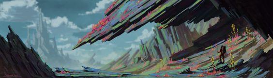 ArtStation - Calder Moore's submission on The Journey - 2D Environment Art Challenge