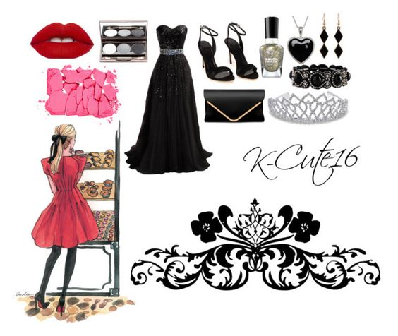 """Royal Beauty in Black!"" by k-cute16 ❤ liked on Polyvore featuring Sally Hansen, Bling Jewelry, Lord & Taylor and NARS Cosmetics"