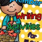"""Are you ready for September?  Fall is coming and so is football!  This packet is full of writing activities to GET YOU OFF TO A """"WRITE"""" start with ..."""