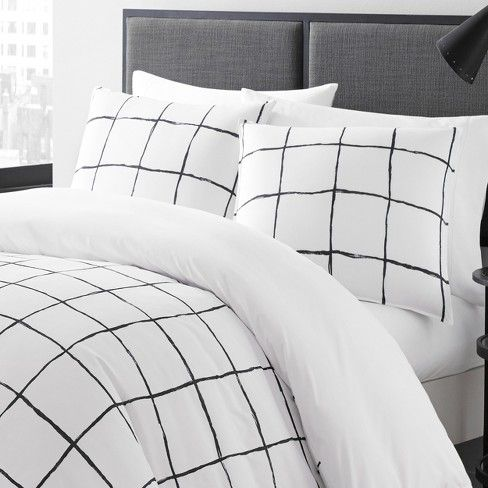 White Zander Comforter Set City Scene With Images Bed